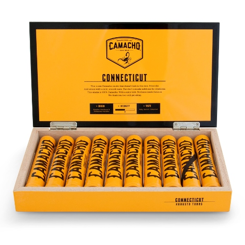 Сигары Camacho Connecticut Robusto Tubos 10 шт.